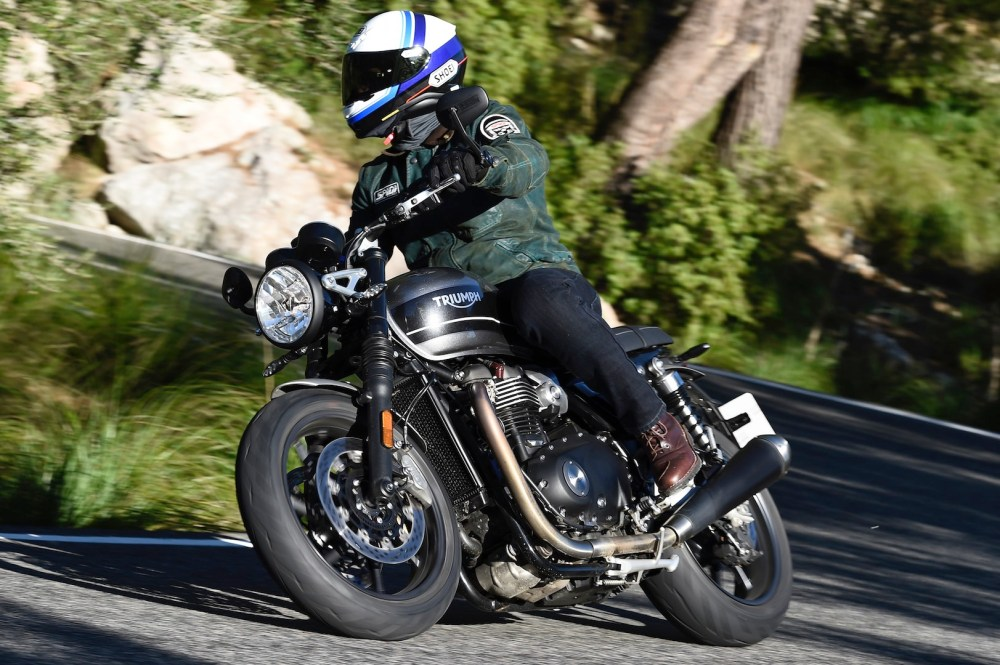 medium resolution of 2019 triumph speed twin review cornering motorcycle