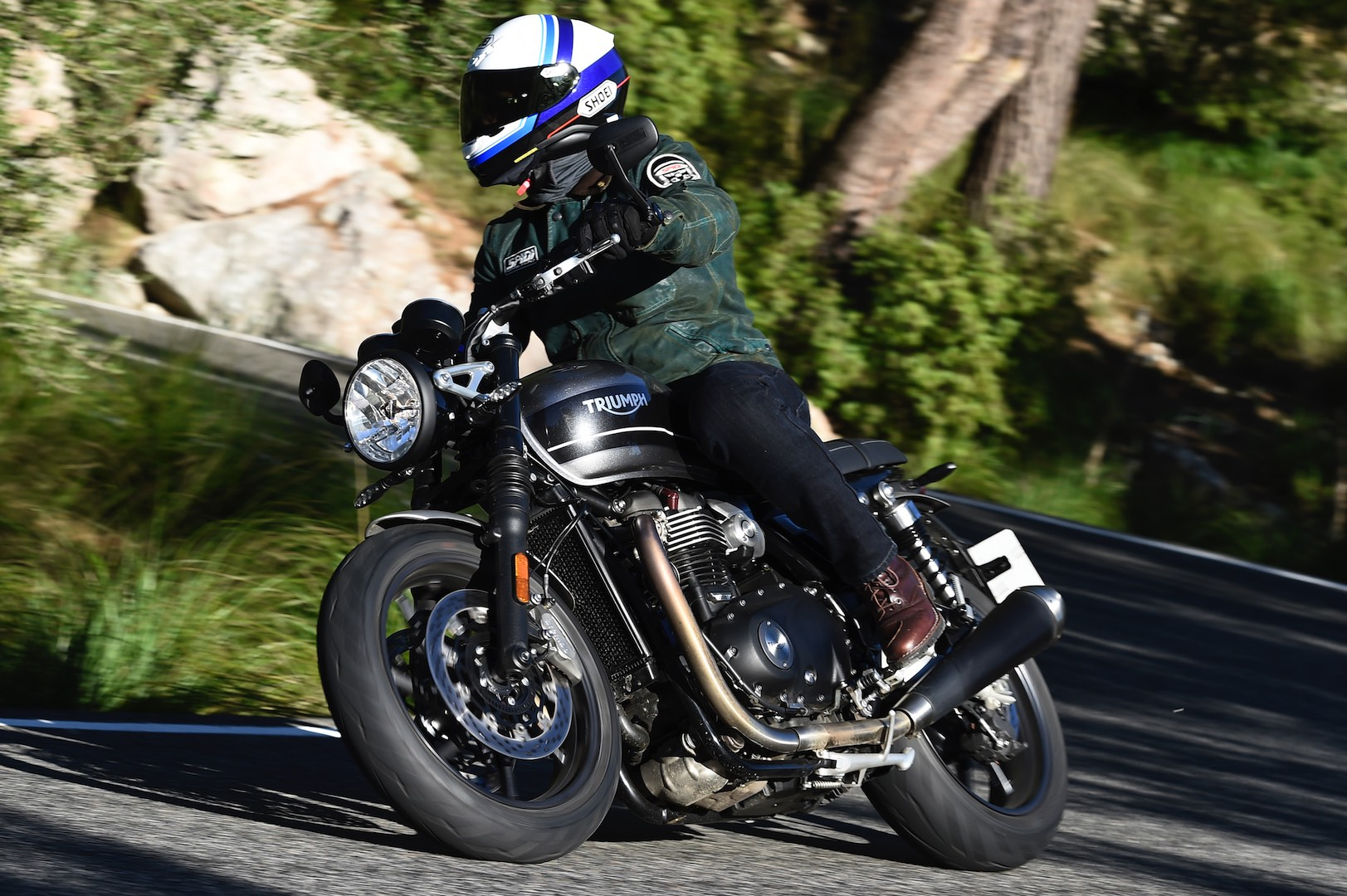 hight resolution of 2019 triumph speed twin review cornering motorcycle