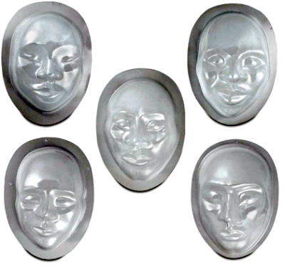 Molds for Paper Mache Masks
