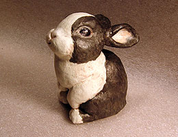 The Finished Paper Mache Dutch Rabbit