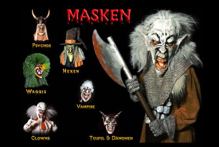 Scary Paper Mache Masks