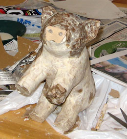 Paper Mache Piggy Bank, Step 7