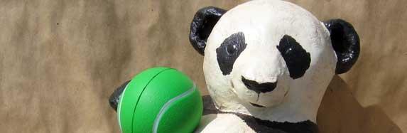 Paper Mache Panda Sculpture