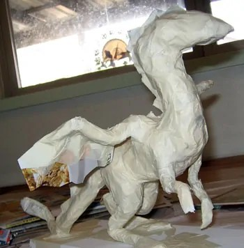 Paper Mache Dragon, Step 4
