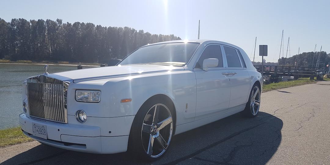 white new rolls royce