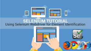 using selenium webdriver for element identification