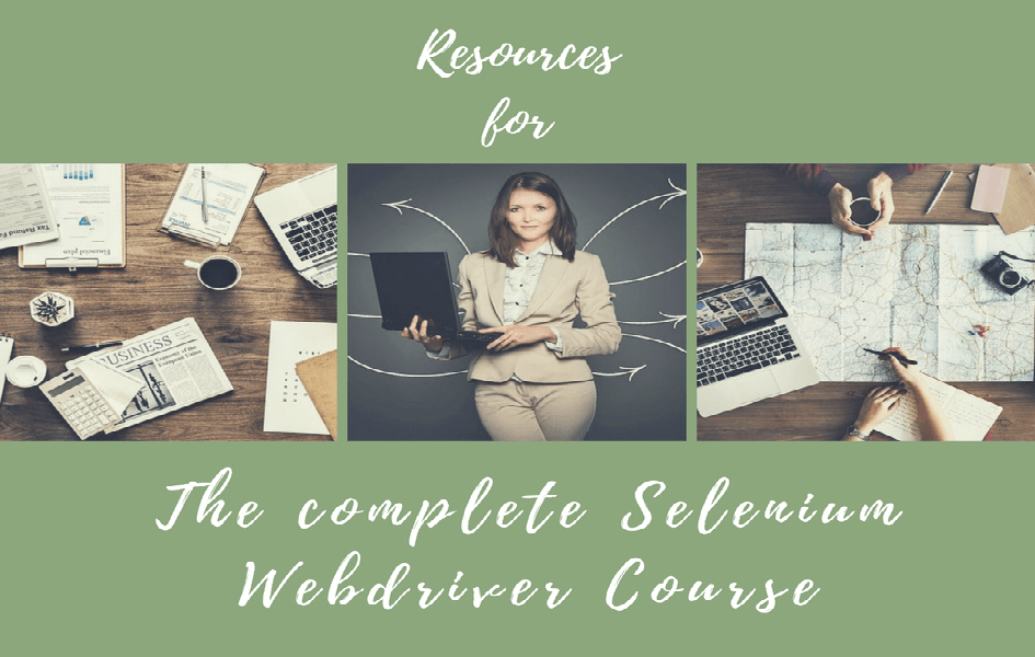 Resources for The Complete Selenium WebDriver Course