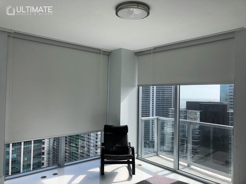 roller shades blackout with view
