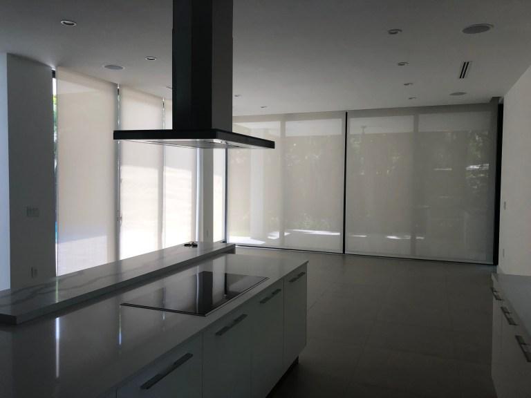 roller shade kitchen