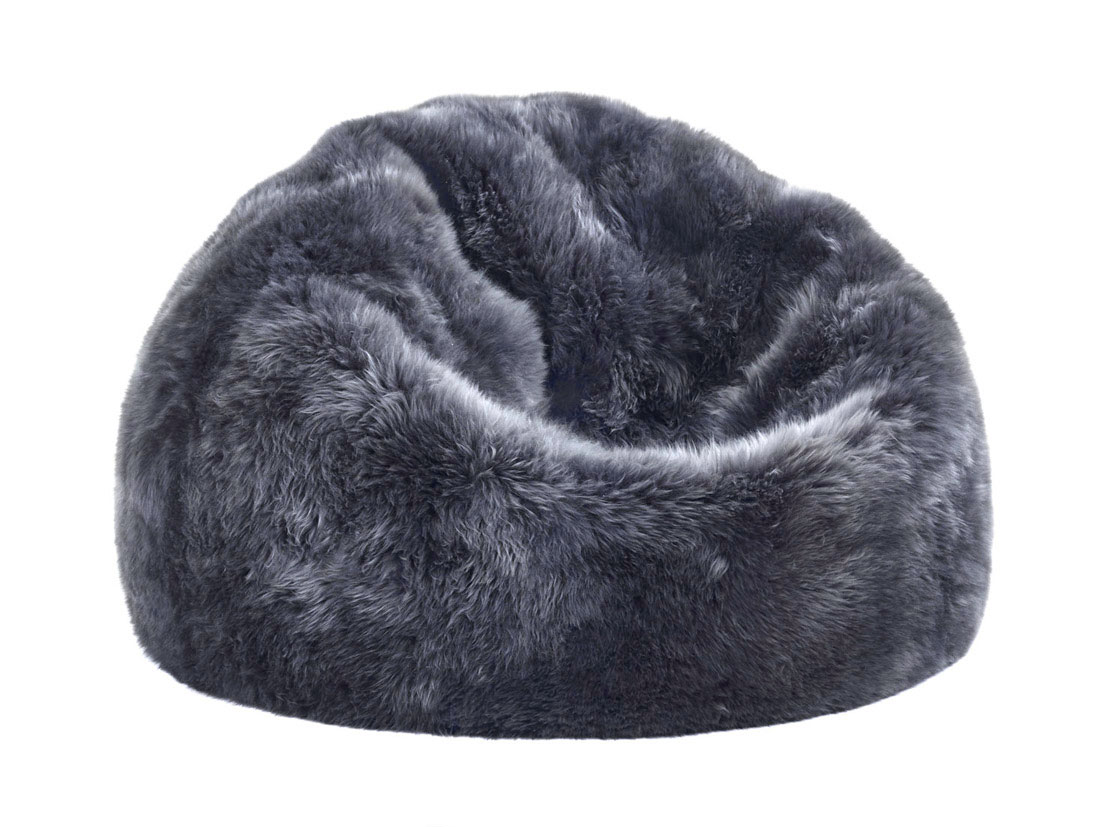 Bean Bags Chair Fibre By Auskin Sheepskin Bean Bag Chair Steel Gray 3 Unfilled