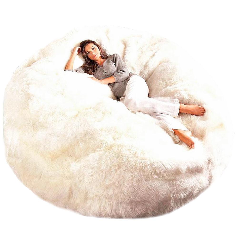 fibre by auskin giant sheepskin bean bag chair cover 6