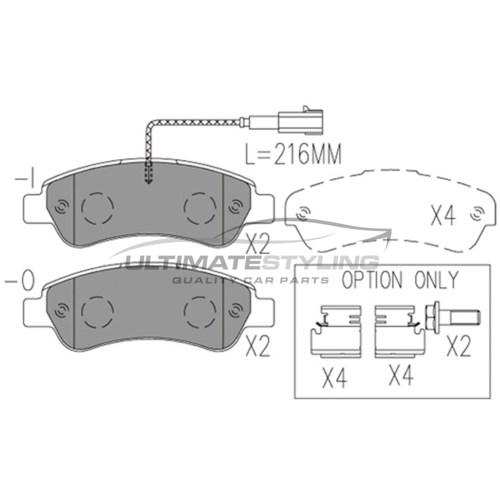 small resolution of  citroen relay fiat ducato peugeot boxer brake pads rear