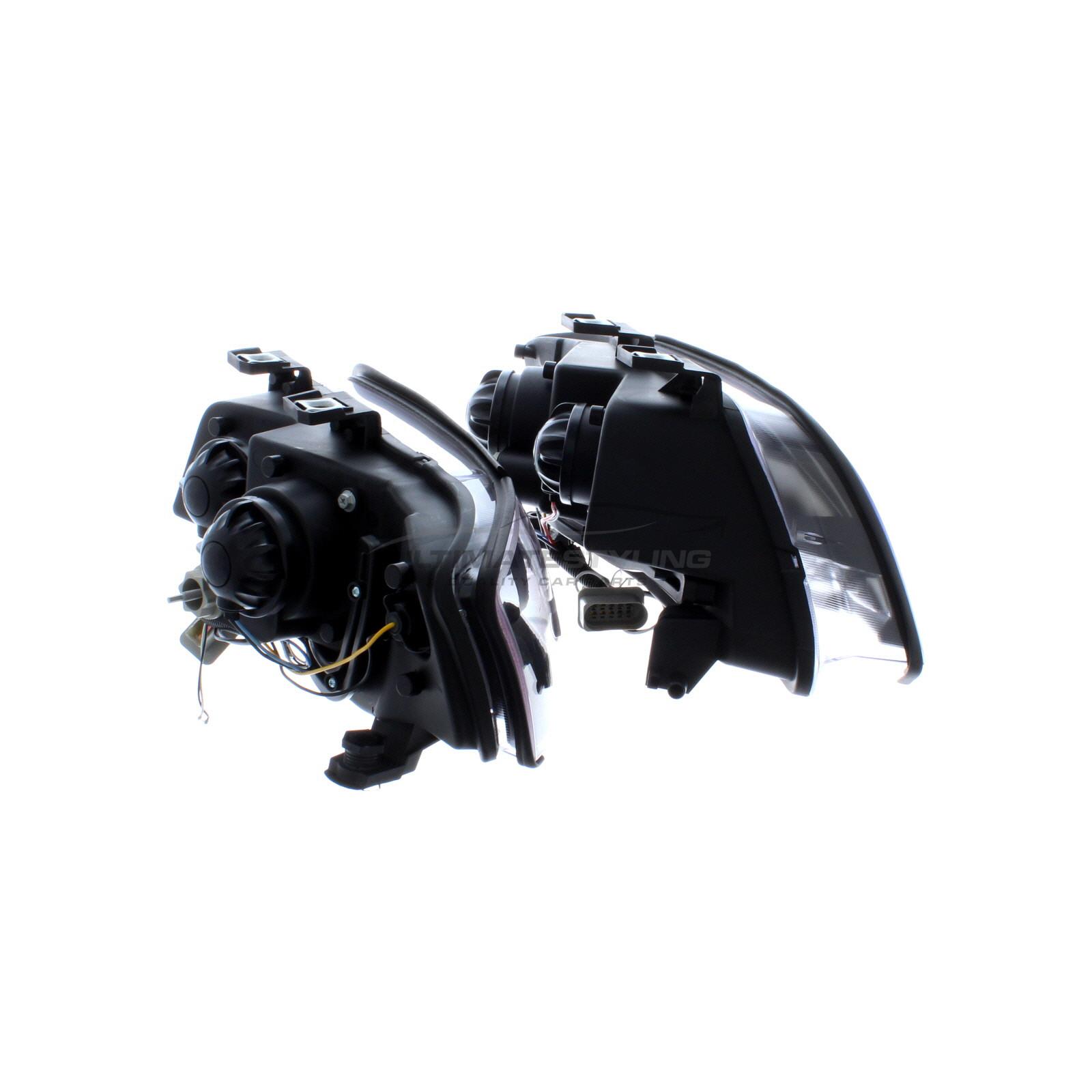hight resolution of  audi a6 2001 2005 black drl led devil eye r8 head light lamp pair left