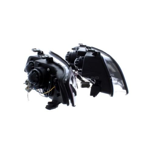 small resolution of  audi a6 2001 2005 black drl led devil eye r8 head light lamp pair left