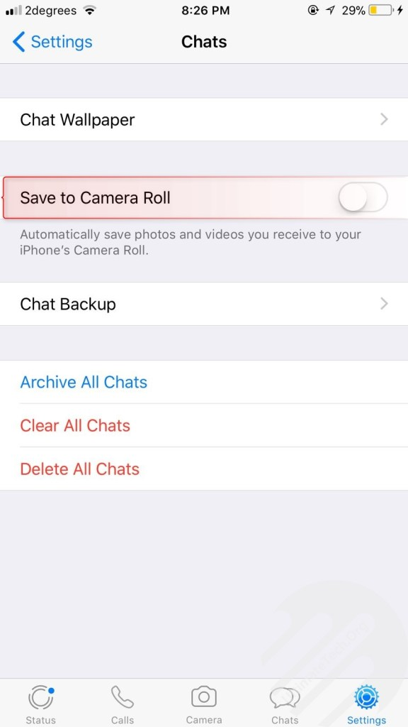 Stop WhatsApp From Saving Media to Gallery [iOS/Android]