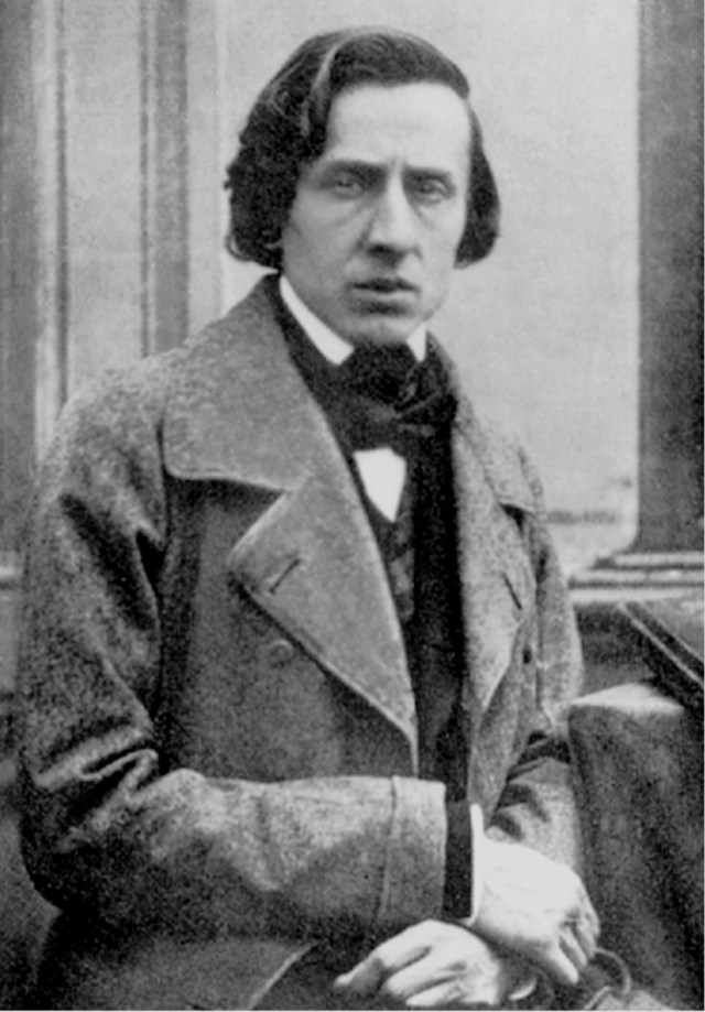 Chopin, Photograph by Louis-Auguste Bisson, 1849