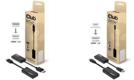 Club 3D: Aktive HDMI 2.0 DisplayPort-Adapter für Ultra HD mit 60 Hz
