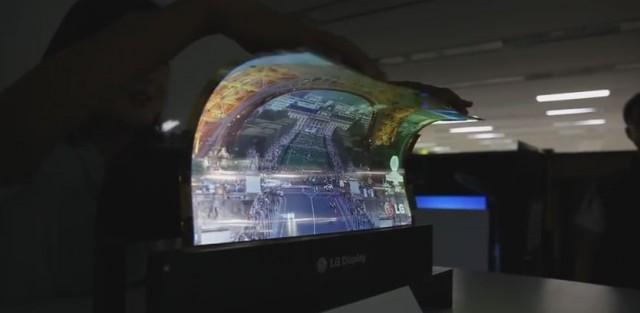 LG zeigt flexibles 18 Zoll Display im Video