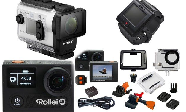 Action in 4K: Rollei zeigt sich großzügig, Sony haut auf den Putz