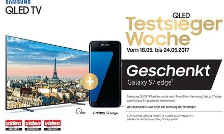 """Galaxy-Smartphone als """"Zugabe"""" beim Kauf von Samsung QLED-Fernsehern"""