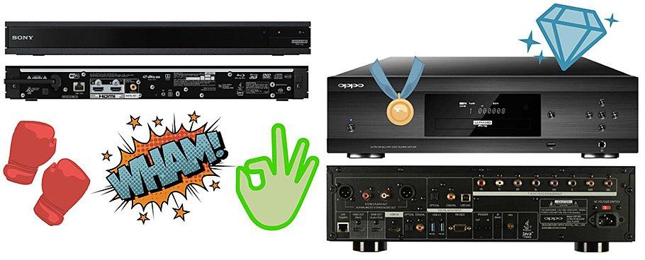 Sonys UBP-X800 tritt dem OPPO UDP 205 kräftig vors Schienbein