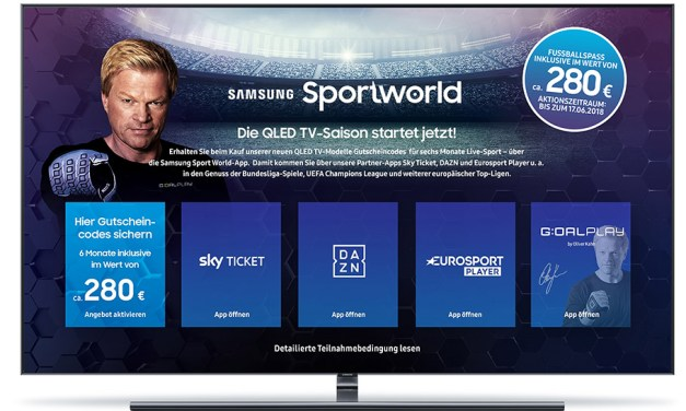 Samsungs lockt Sportfans mit verführerischer Sportworld App