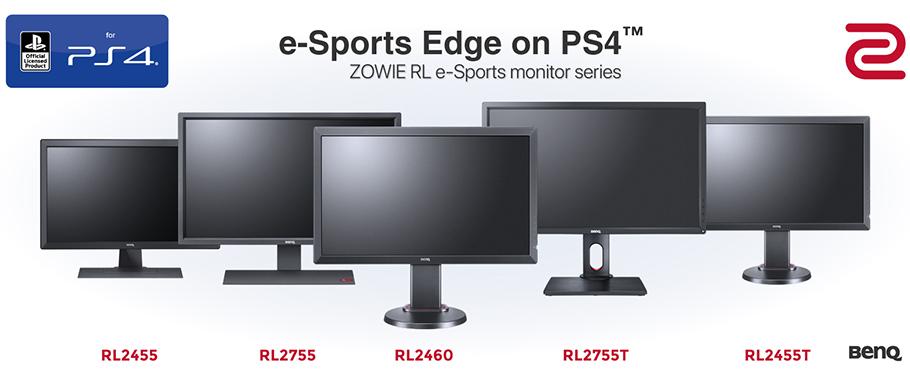 News für Gamer und e-Sportler: Sony PS4-Lizenz für Zowie RL-Monitore