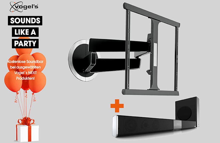 Vogel´s TV-Wandhalterungen: gratis Upgrades und satte Rabatte