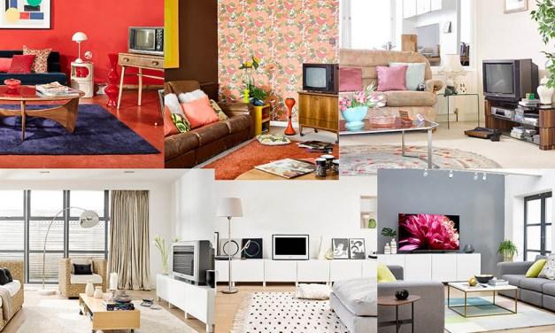 TV-Geräte: Wohnzimmer werden größeren Bildschirmen angepasst