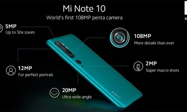 Penta-Kamera im Xiaomi-Note 10  mit fünf Sensoren: 108 Megapixel!