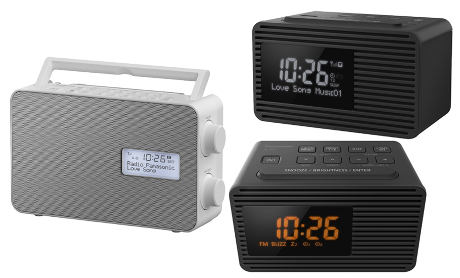 Küchenradio für unterwegs und Radiowecker mit Jumbo Snooze