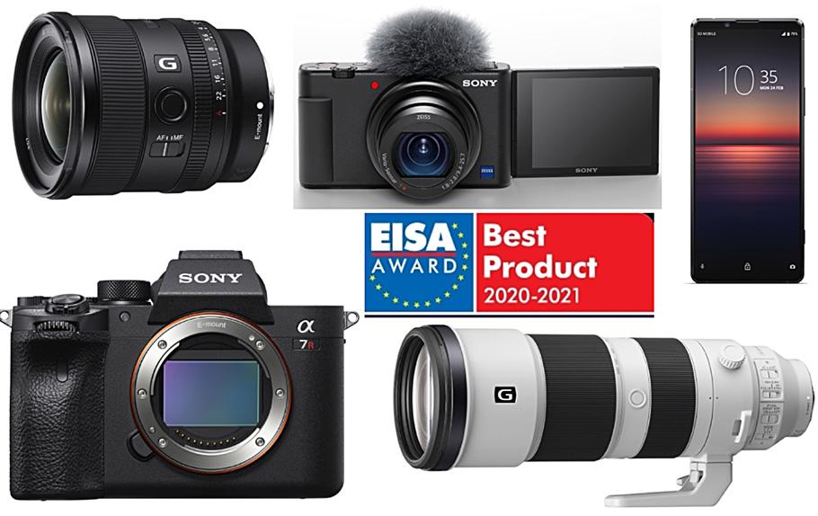 Fünf EISA-Awards für Kameras, Objektive und Handy von Sony