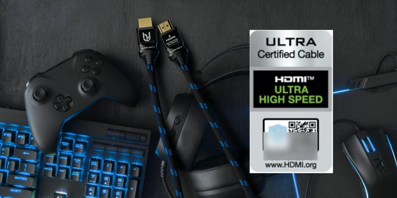 Ultra High Speed HDMI 2.1 Kabel von Ultra HDTV erhalten Premium-Zertifizierung