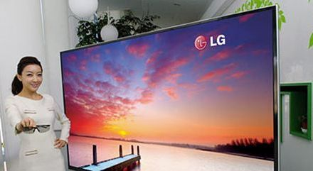 Größter 3D-Fernseher mit Ultra-HD von LG