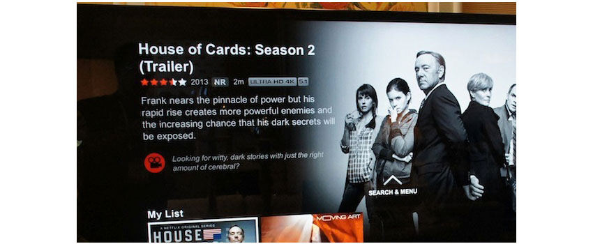Netflix: House of Cards Stream in 4K