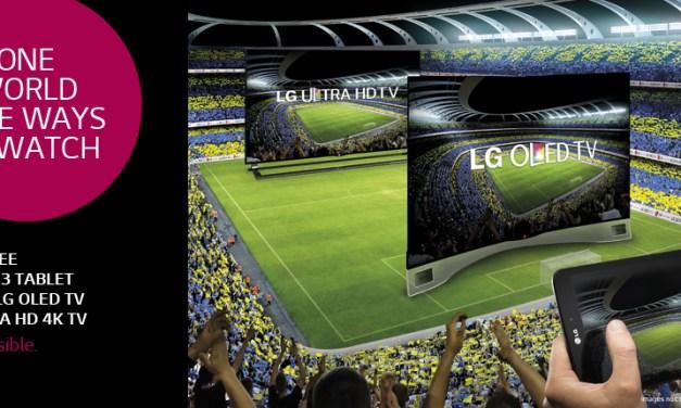 LG G Pad kostenlos bei OLED – oder 4K-TV-Kauf zur WM 2014