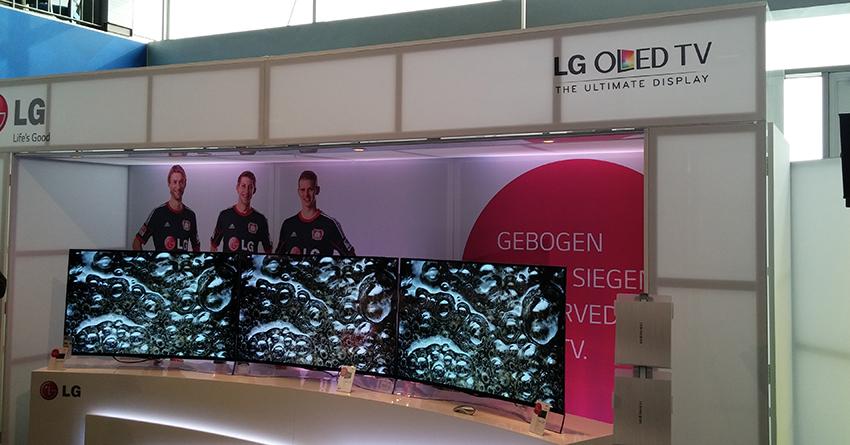 LG: Curved-Fernseher für zwei bis drei Personen ideal