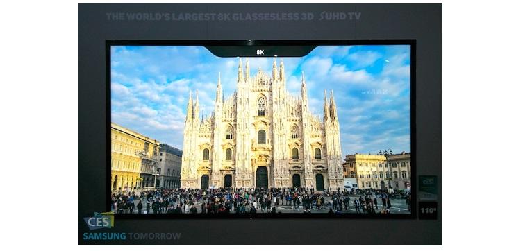 CES 2015: Samsung führt 8K-Fernseher mit brillenlosem 3D vor