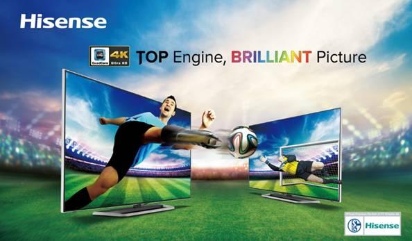 Hisense stellt UHD-TVs mit Quad-Core und 4×4-Technologie vor