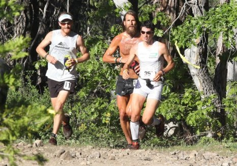 Kilian with US countryman, Anton Krupicka, running for their new country Cololonia