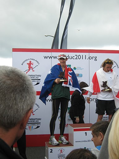 David Kennedy at the Commonwealth champs in Wales - winning a Silver medal