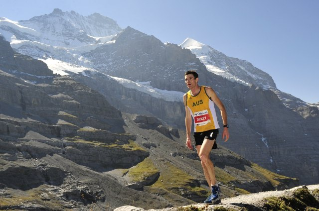 Andrew Tuckey at the 2012 Jungfrau Marathon in Switzerland
