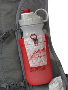 No bladder in the back means bottles up front - great for races with aid stations 10kms and under