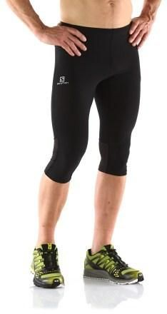 It's OK for a man to wear 3/4 length running tights... in Europe.
