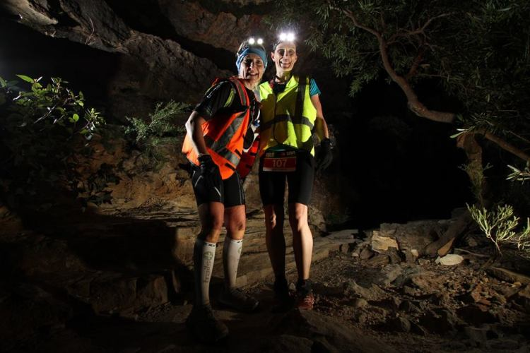 Bry with another prolific Aussie female ultra runner - Nikki Wynd at TNF100