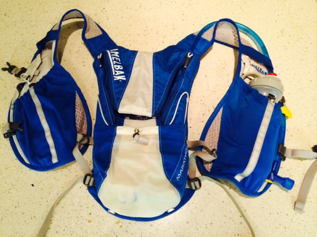 Slightly bulkier than most lightweight running packs, but lots of water carrying potential with this pack