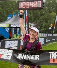 Fiona winning at Tarawera this year