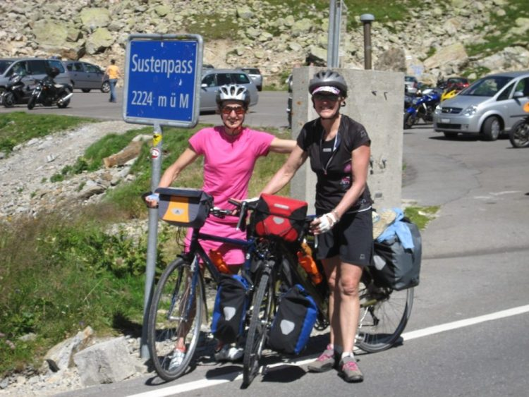 Hanny and Julia Allston Sustenpass Switzerland in 2011