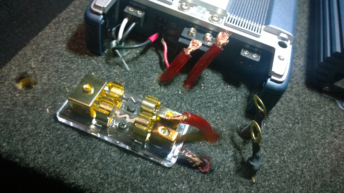 hight resolution of ground cable red wires all loose cables not even copper cheap parts distribution block starting to