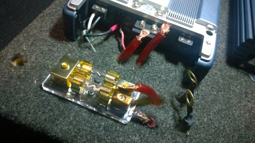 small resolution of ground cable red wires all loose cables not even copper cheap parts distribution block starting to
